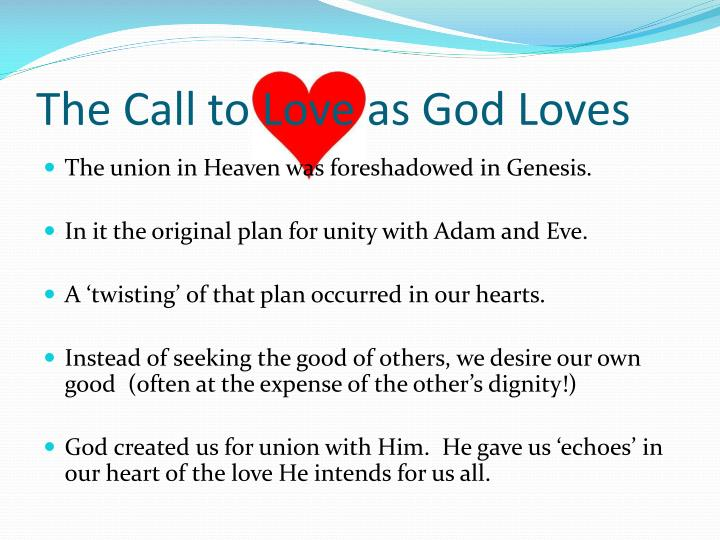 The Call to Love as God Loves