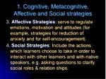 1 cognitive metacognitive affective and social strategies2