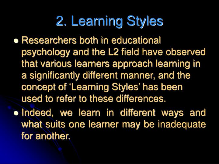 2. Learning Styles