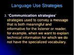 language use strategies1