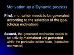 motivation as a dynamic process1