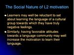 the social nature of l2 motivation1