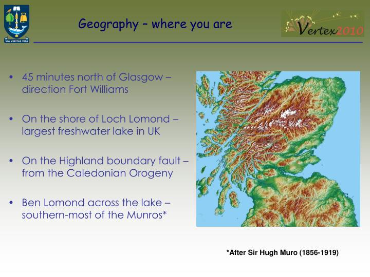 Geography – where you are