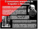 o comunismo anarquista de kropotkin a malatesta