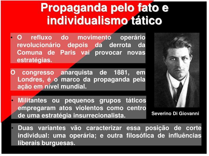 Propaganda pelo fato e individualismo tático