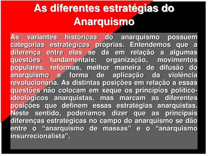 As diferentes estratégias do Anarquismo