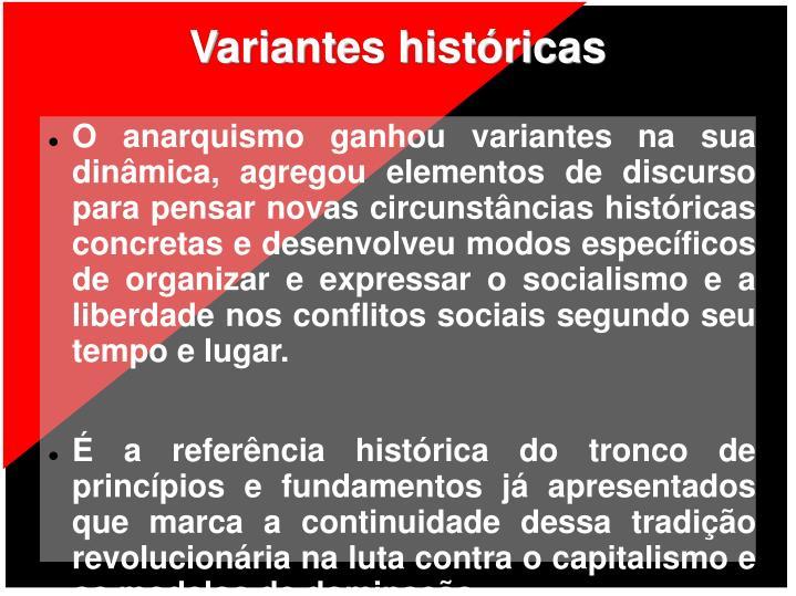 Variantes históricas