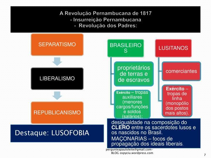 A Revolução Pernambucana de 1817