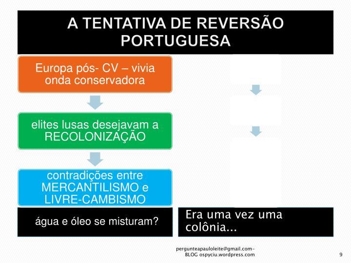 A TENTATIVA DE REVERSÃO PORTUGUESA