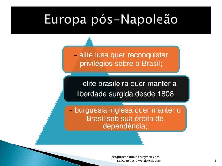 Europa pós-Napoleão