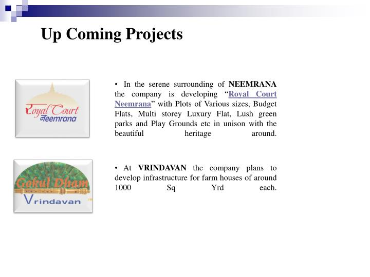 Up Coming Projects