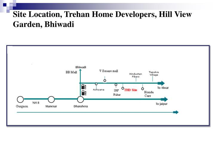 Site Location, Trehan Home Developers, Hill View Garden, Bhiwadi