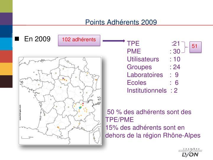 Points Adhérents 2009