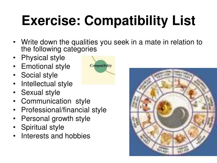 Exercise: Compatibility List