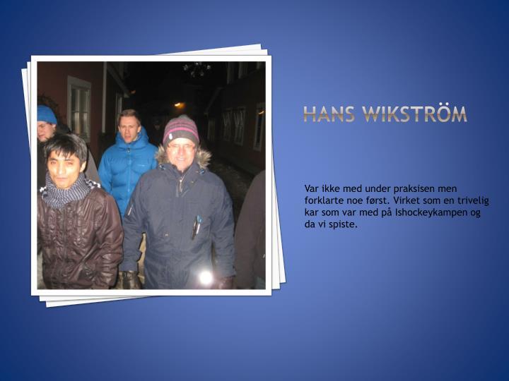 Hans Wikström