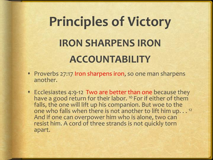 Principles of Victory