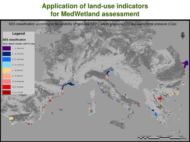 Application of land-use indicators