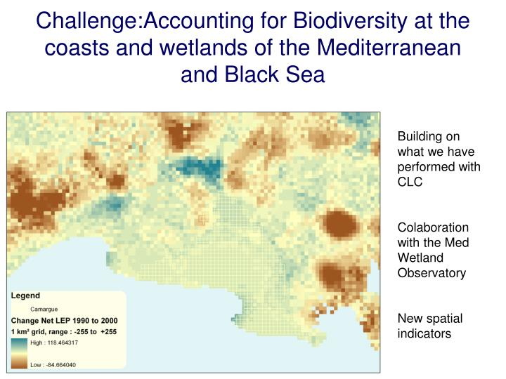 Challenge:Accounting for Biodiversity at the coasts and wetlands of the Mediterranean and Black Sea