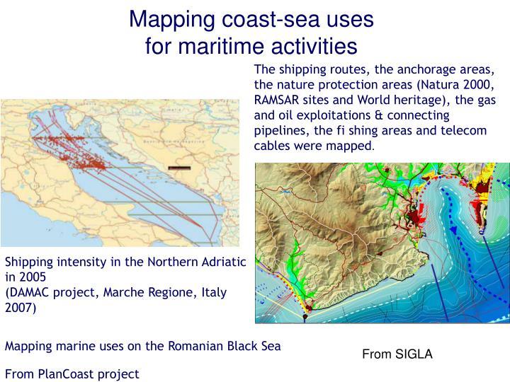 Mapping coast-sea uses