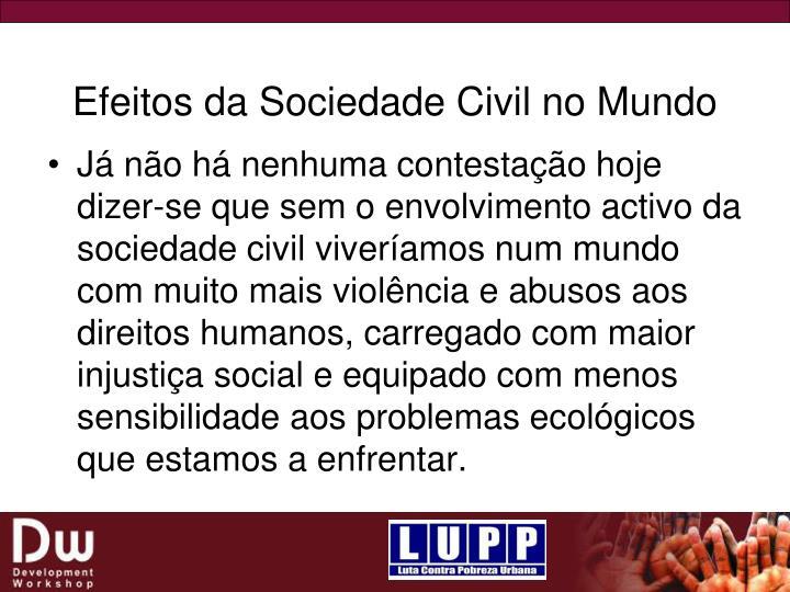 Efeitos da Sociedade Civil no Mundo