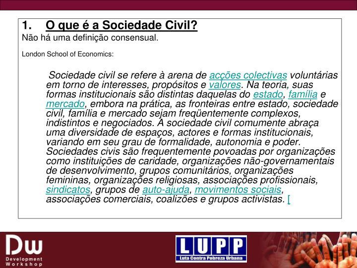 O que é a Sociedade Civil?