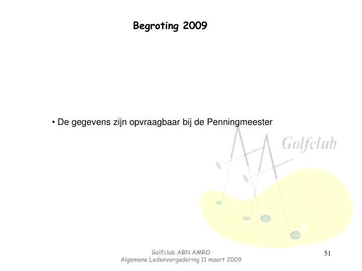 Begroting 2009