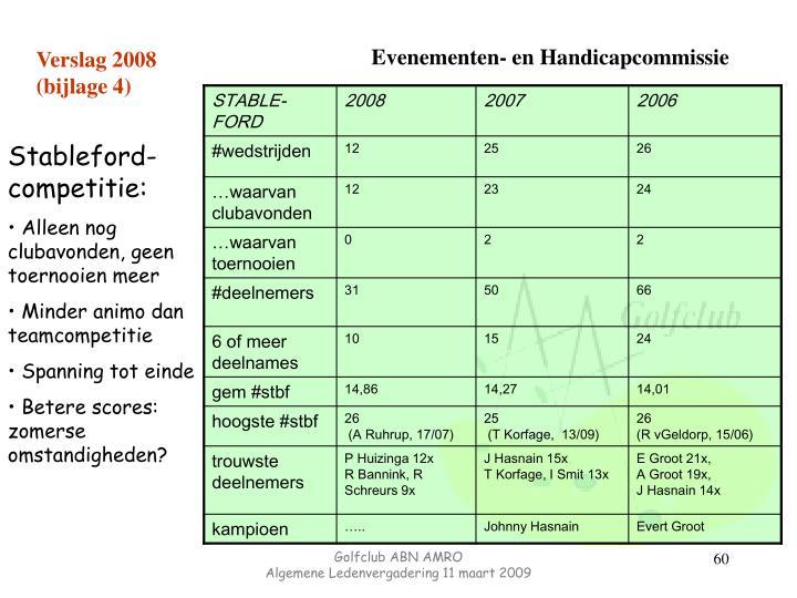 Verslag 2008