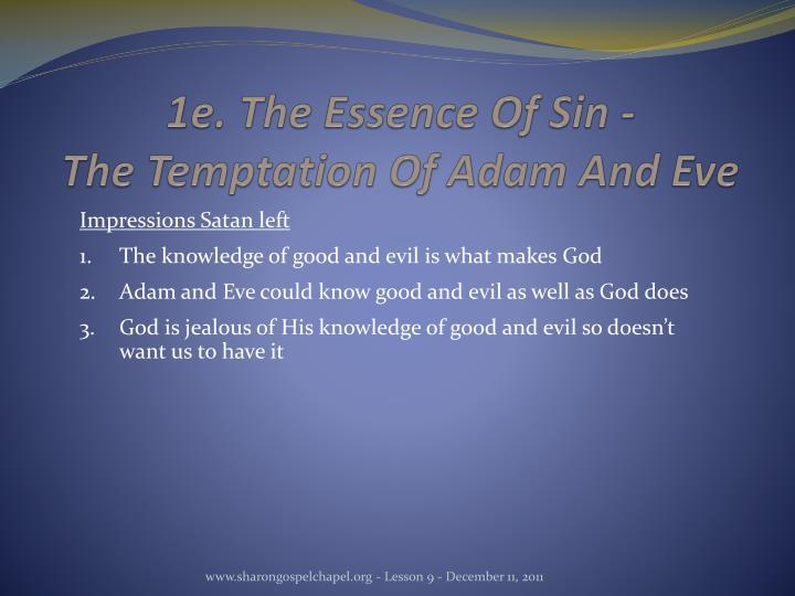 1e. The Essence Of Sin -
