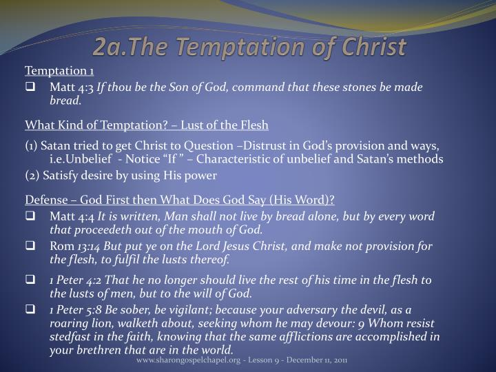 2a.The Temptation of Christ