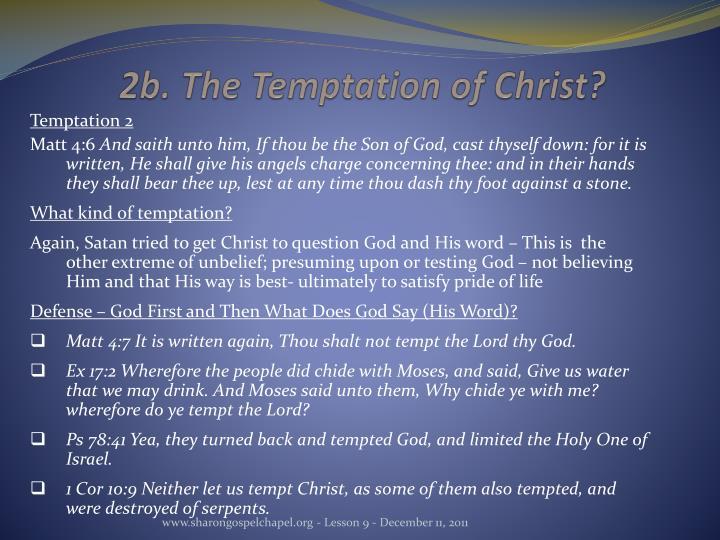 2b. The Temptation of Christ?