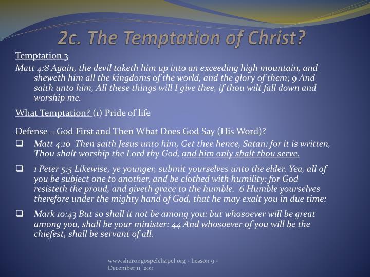 2c. The Temptation of Christ?