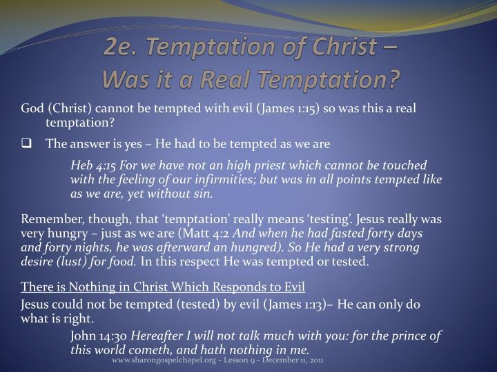 2e. Temptation of Christ –