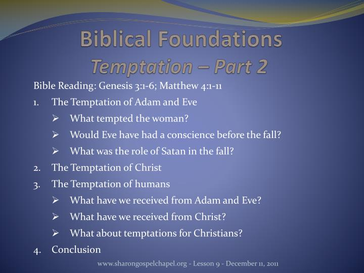 Biblical Foundations