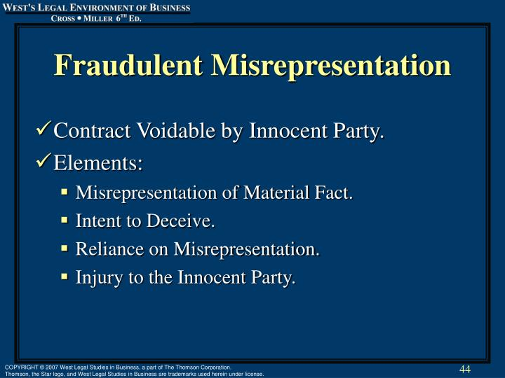 misrepresentation contract act 1950 Corporate bodies' contracts act 1960 (1964 c19) misrepresentation act 1967 (1967 c7) criminal law act this act may be cited as the contract and tort act.