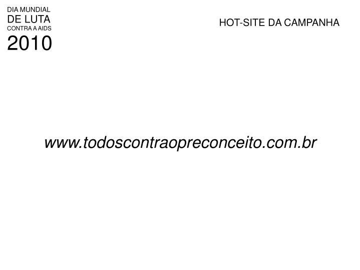 HOT-SITE DA CAMPANHA