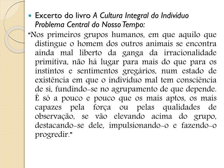 Excerto do livro