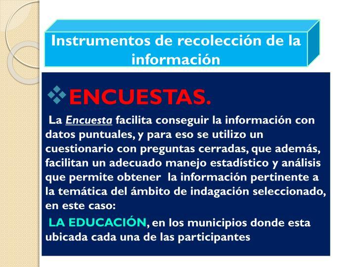 Instrumentos de recolección de la información