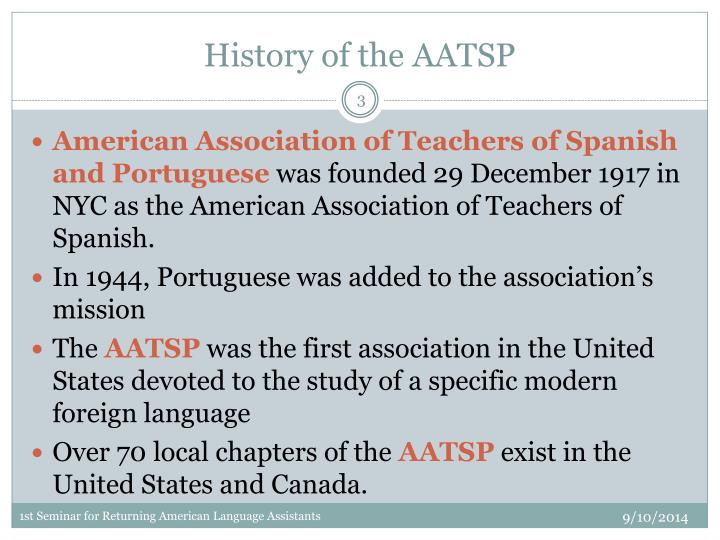History of the aatsp