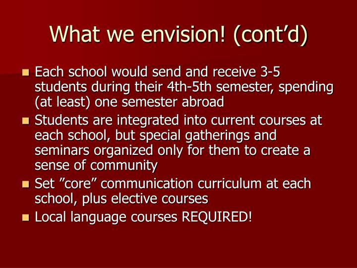 What we envision! (cont'd)