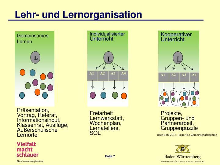 Lehr- und Lernorganisation