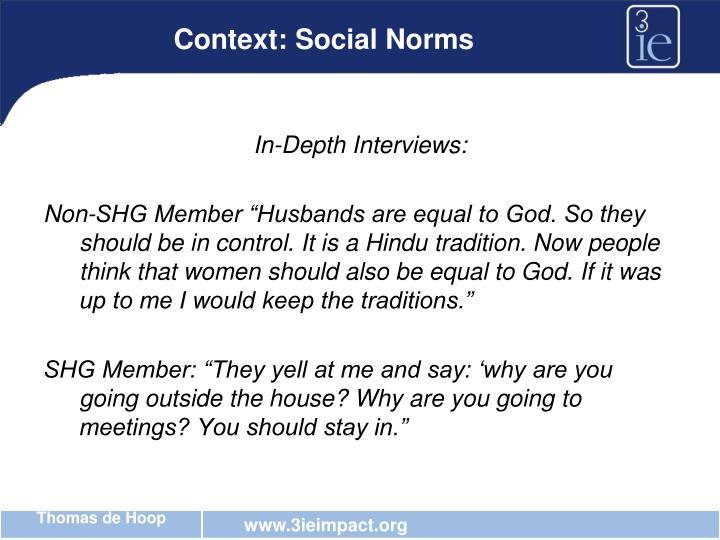 Context: Social Norms