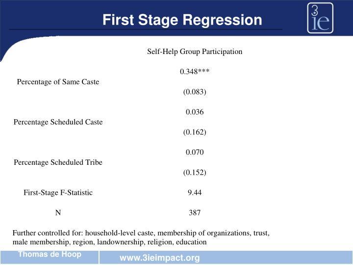 First Stage Regression