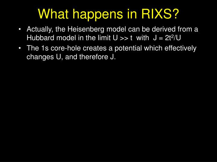 What happens in RIXS?
