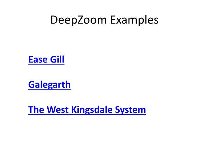 DeepZoom Examples