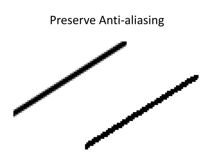Preserve Anti-aliasing