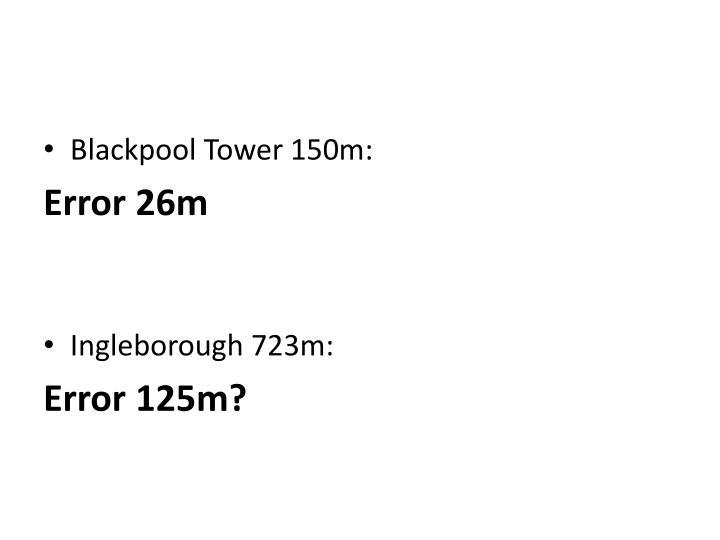 Blackpool Tower 150m: