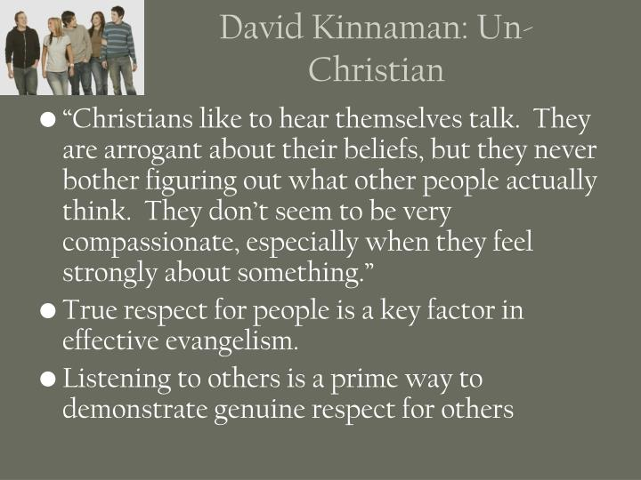 David Kinnaman: Un-Christian