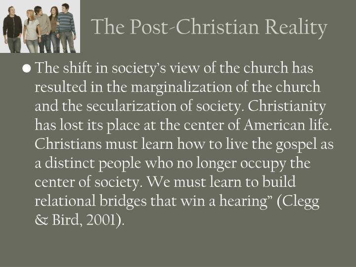 The Post-Christian Reality