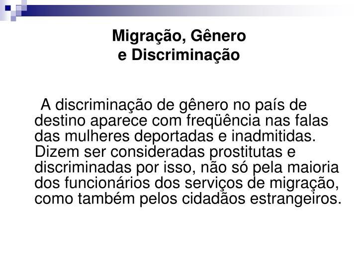 Migração, Gênero