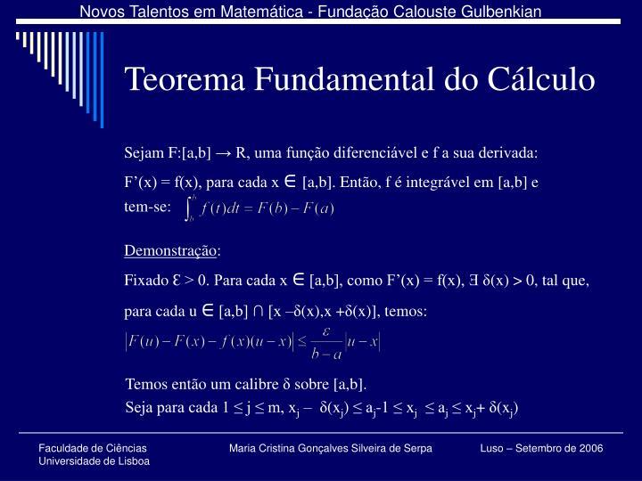 Teorema Fundamental do Cálculo